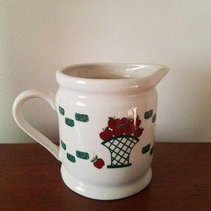Ceramic Basket of Apples Creamer Vintage Farmhouse